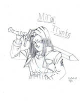 Mirai Trunks Lineart by Rubber-Band-Of-Doom