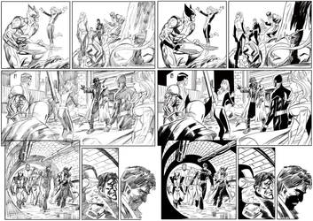 X-Men Pencils Inks by RogerOtt
