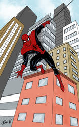 Spider-Man in New York by RogerOtt