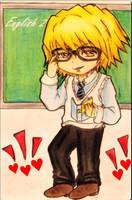 English teacher, Dino ** by Hanatsuki-Ai