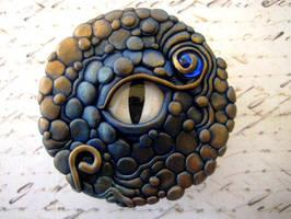 Polymer Clay Dragon's Eye Tin by RoyalKitness