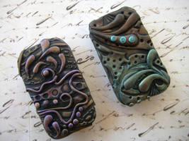 Artsy Polymer Clay Tins by RoyalKitness