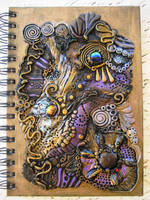 Ancient Treasure Polymer Clay Journal by RoyalKitness