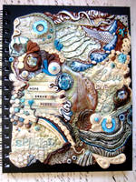 Bohemian Blues Polymer Clay Journal by RoyalKitness