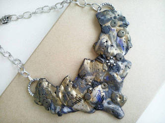 Large Ragged Industrial Statement Necklace by RoyalKitness