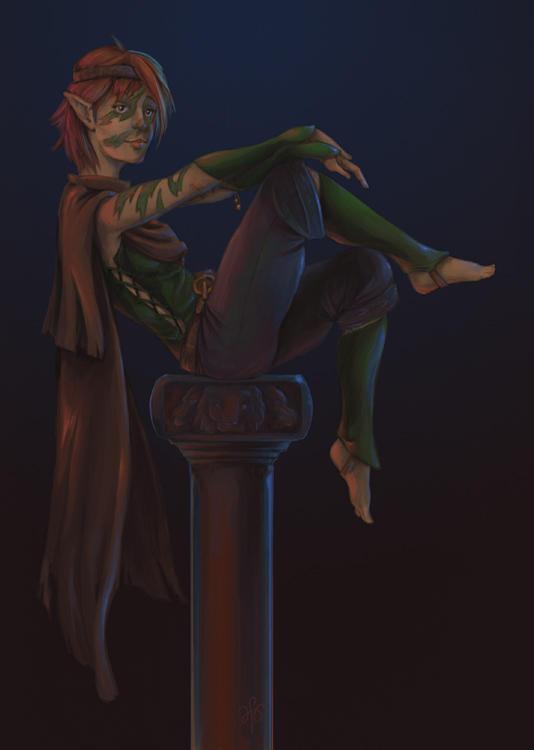 Ciarin, of the Hidden Elves by inkwraith