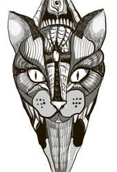 Cat tatoo by KingOfLonelyCrowd
