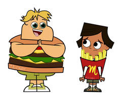 Total Dramarama Owen and Noah-Burger and Fries by cindywuzheer