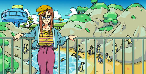 zelda appears in modern world and goes to the zoo by Krokodilov