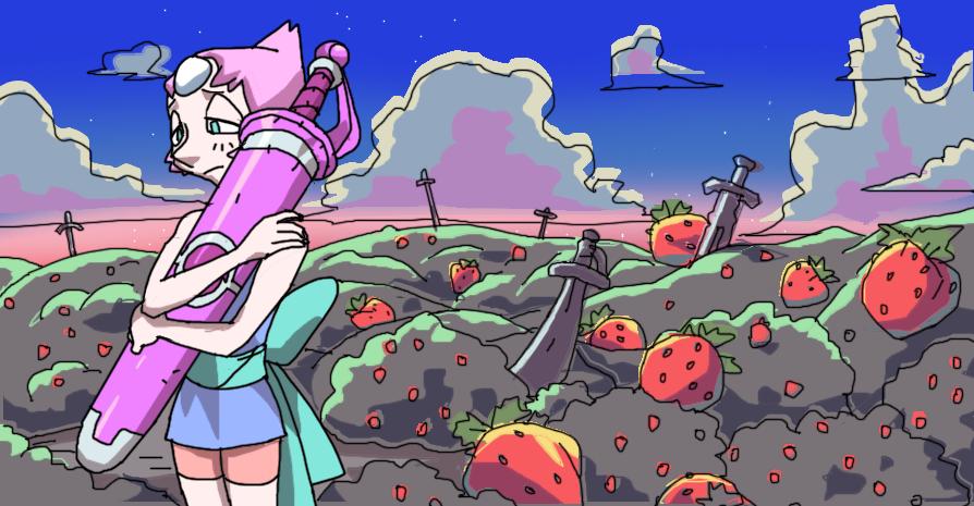 strawberry battlefields forever by Krokodilov