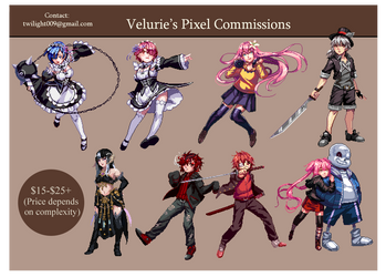 (New and on sale!) Pixel Commission Sheet by Velurie