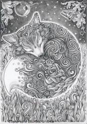 Sleepy Fox by Ejderha-Arts