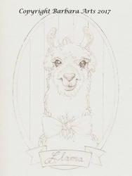 My Lovely Llama Gallery: Llama (line art) by Ejderha-Arts