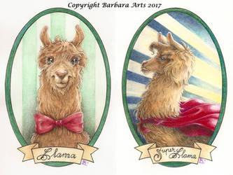 My Lovely Llama Gallery: Llama and Super Llama by Ejderha-Arts