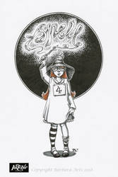 Inktober 2018 #4 - Spell by Ejderha-Arts