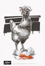 Inktober 2018 #5 - Chicken by Ejderha-Arts