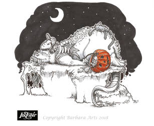 Inktober 2018 #7 - Exhausted by Ejderha-Arts
