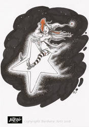 Inktober 2018 #8 - Star by Ejderha-Arts