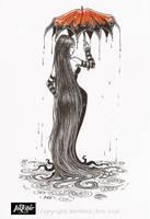 Inktober 2018 #10 - Flowing by Ejderha-Arts