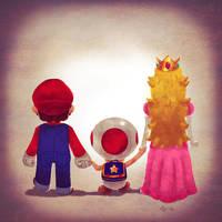 Mario Family by Andry-Shango