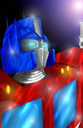 Optimus Prime paint by buuteheweun