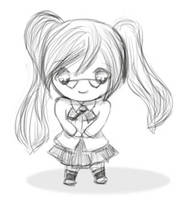 Gaia Sample - B+W Chibi by tamaneko-i-b