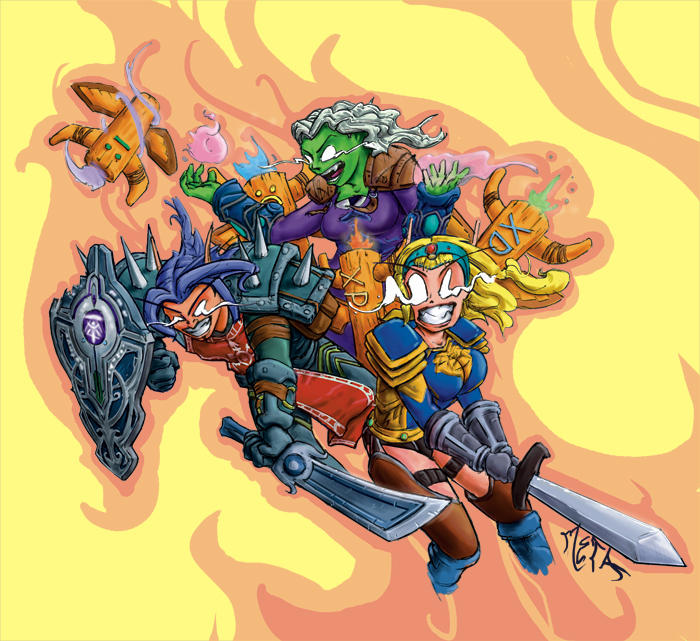 World Of Warchaft Characters by Metajake