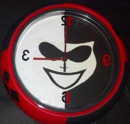 Harley Quinn clock by cutiechibi