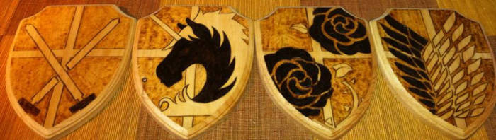 Attack on Titan Military Corps Shields by cutiechibi