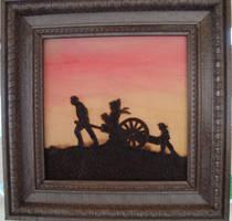 Pioneer Silhouette Handcart by dppratt