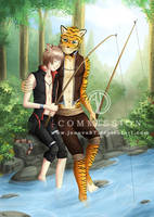 Commission OC: Fishing with Dad by Jenova87