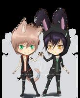 Gift: Chibi - Toma and Jaze by Jenova87