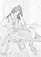 Twelve Kingdoms: Ruller of En [Sketch] by Jenova87