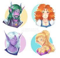 Commission WoW : Characters' Headshots by Jenova87