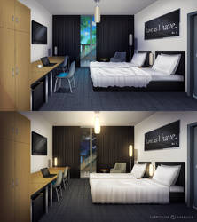 Commission BG: Hotel Room by Jenova87