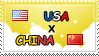 .: USA x China II Stamp by ChokorettoMilku