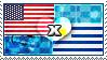 APH: USA x Uruguay Stamp by ChokorettoMilku