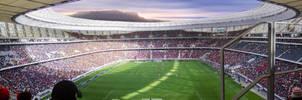 Cape Town Stadium Panoramic by Justinlite