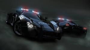 3D Police Car by Justinlite
