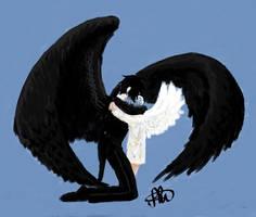 SebaCiel winged by KatsuNoJutsu95