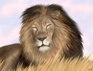 oekaki lion by wildtoele