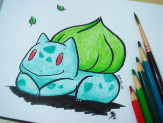 #001 Bulbasaur by Mky-Amako