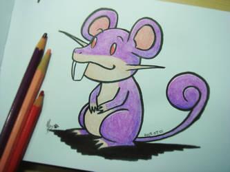 #019 Rattata by Mky-Amako
