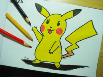 #025 Pikachu by Mky-Amako