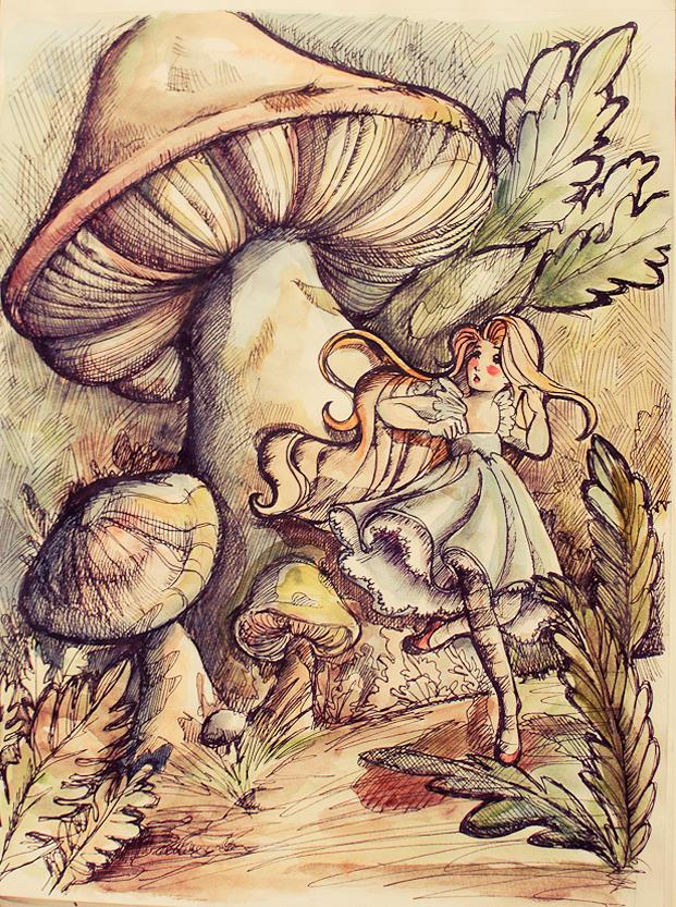 Alice in Wonderland - Watercolors by Isis-M
