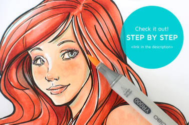 Tutorial: How to Color with Copics: Little mermaid by Isis-M
