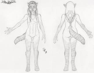 Sybil Ref Sheet (Fur Pattern) 2 by dreadwolfclaw