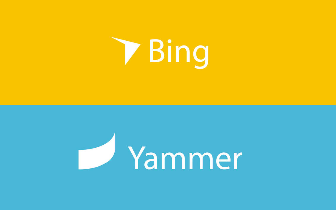 Re Imagining Bing Yammer Logos Concept By Brebenel Silviu On