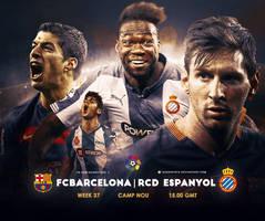 FCBARCELONA VS ESPAGNOL by Achrafgfx