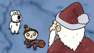 Stewie tries to kill Santa by Whiteboardguy